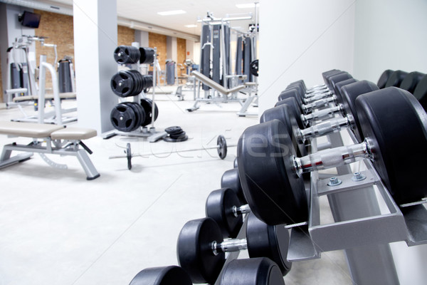Fitness club weight training equipment gym Stock photo © lunamarina
