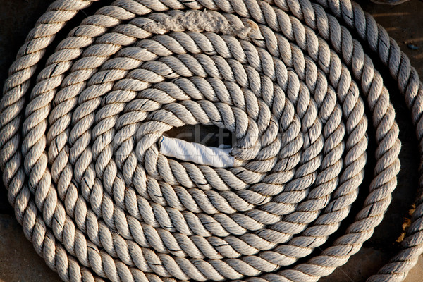 coil of marine rope detail Stock photo © lunamarina