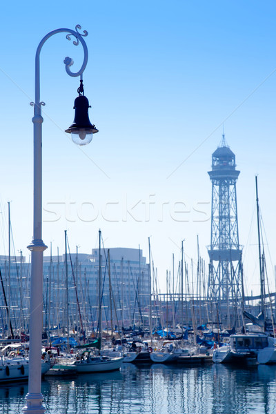 Barcelona marina porta torre barcos negócio Foto stock © lunamarina