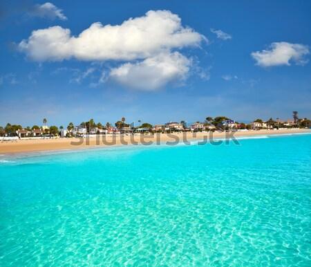 Cala Saona beach in Formentera Balearic islands Stock photo © lunamarina
