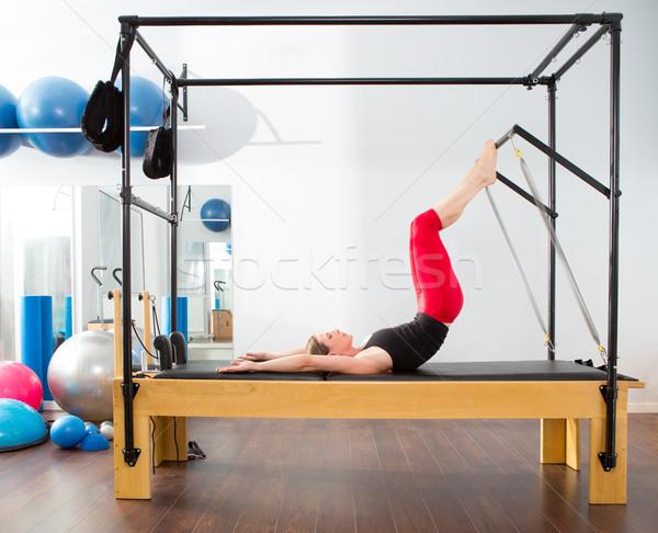 Pilates aerobik eğitmen kadın uygunluk egzersiz Stok fotoğraf © lunamarina