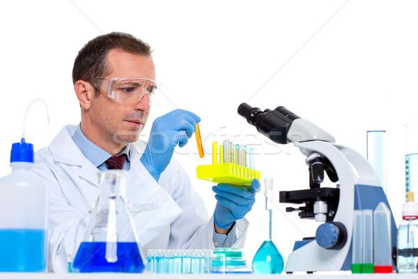 Laboratuvar bilim adamı çalışma laboratuvar test Stok fotoğraf © lunamarina