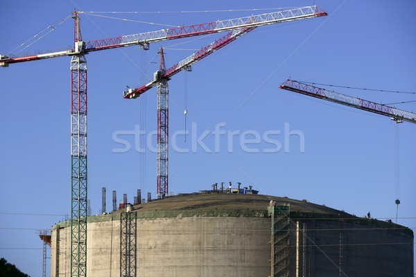 Big chemical tank petrol container oil industry Stock photo © lunamarina