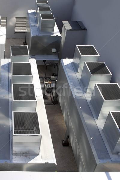 air conditioner industrial gray silver machine Stock photo © lunamarina