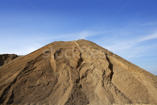 brown construction sand quarry mound Stock photo © lunamarina