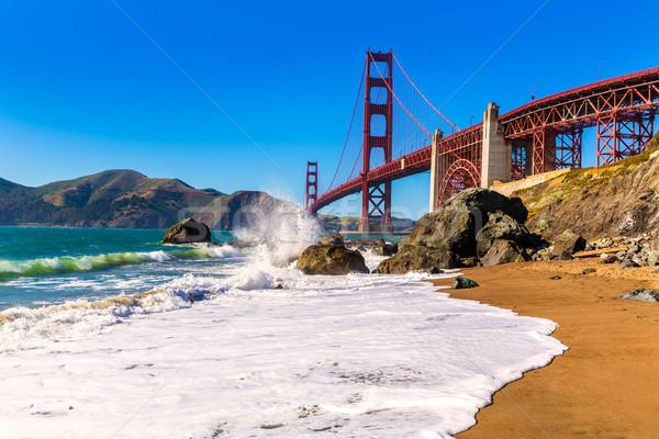 サンフランシスコ ゴールデンゲートブリッジ ビーチ カリフォルニア 米国 空 ストックフォト © lunamarina