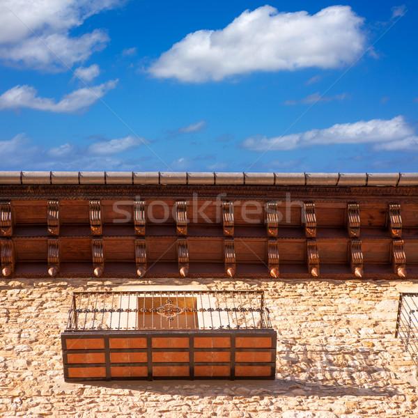W. budynku miasta krajobraz górskich niebieski Zdjęcia stock © lunamarina