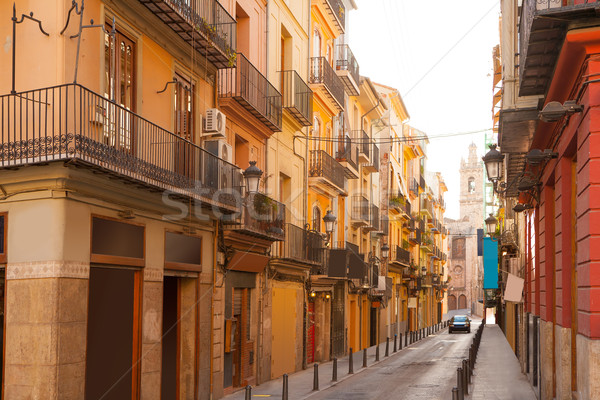 Valencia Bolseria Street in Barrio del Carmen downtown Stock photo © lunamarina