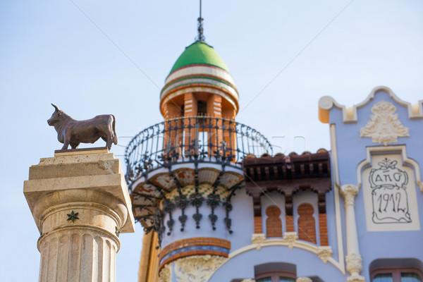 Aragon Teruel El Torico statue Plaza Carlos Castel Spain Stock photo © lunamarina
