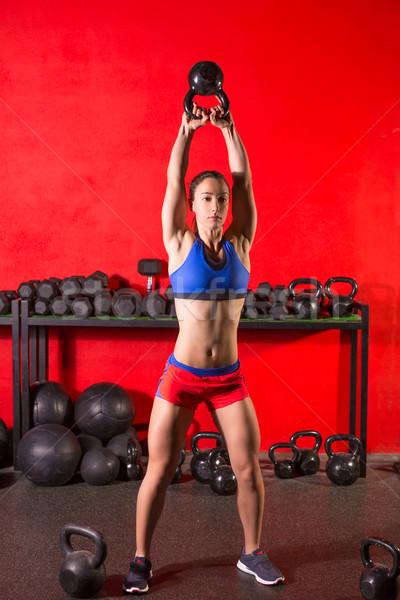 Swing entraînement formation femme gymnase Photo stock © lunamarina