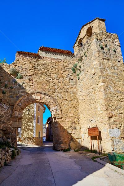 La maçonnerie Espagne porte construction nature Photo stock © lunamarina