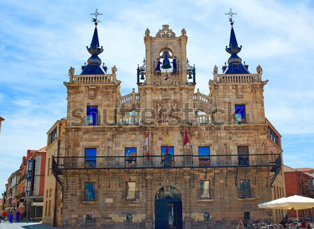 Stad stadhuis manier gebouwen architectuur Stockfoto © lunamarina