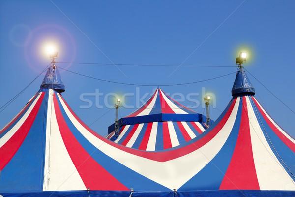 サーカス テント 青空 カラフル 赤 ストックフォト © lunamarina