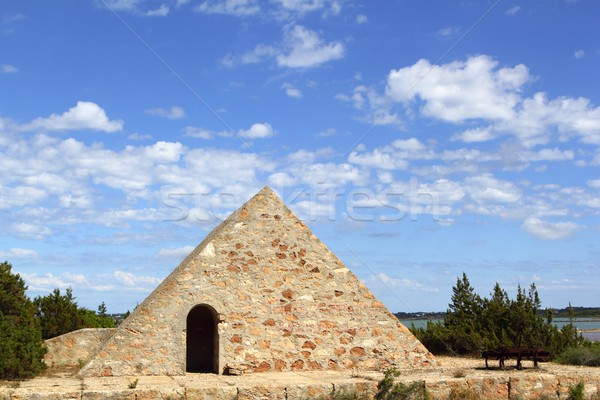 triangle stone masonry Ses Salines formentera Stock photo © lunamarina