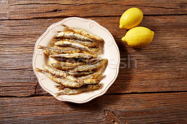 Tapas frutti di mare pesce cena limone Foto d'archivio © lunamarina