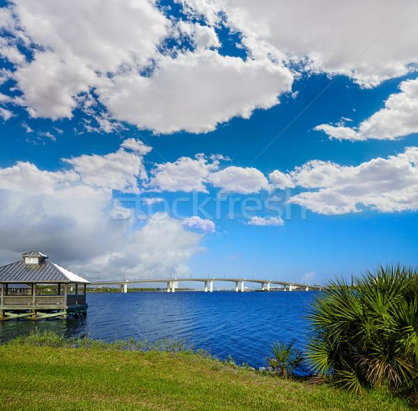 Plaży rzeki Florida kabiny most USA Zdjęcia stock © lunamarina