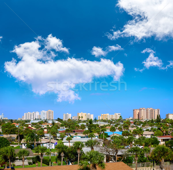 Strand Florida antenne haven oranje USA Stockfoto © lunamarina