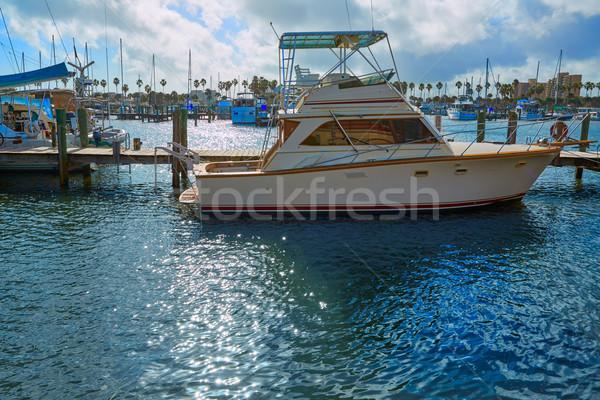 ビーチ フロリダ マリーナ ボート 米国 川 ストックフォト © lunamarina