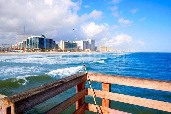 ビーチ フロリダ 海岸線 米国 水 風景 ストックフォト © lunamarina