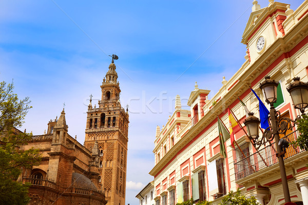 Seville cathedral Giralda tower Sevilla Spain Stock photo © lunamarina