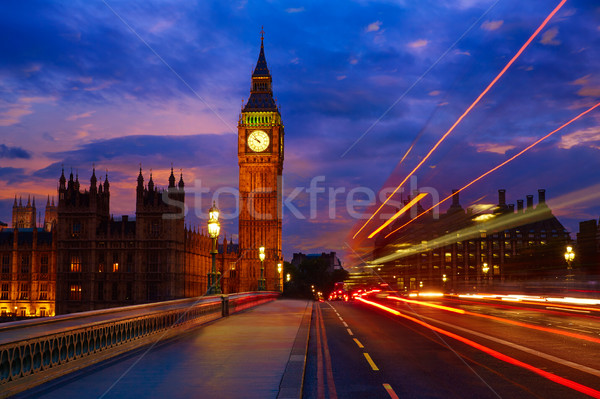 Big Ben ceas turn Londra Anglia cer Imagine de stoc © lunamarina