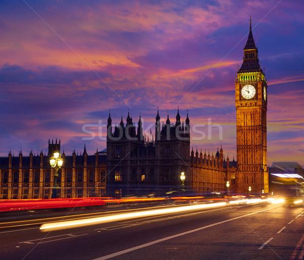 Big Ben klok toren Londen Engeland hemel Stockfoto © lunamarina