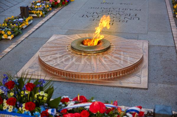 неизвестный солдата дуга Париж пламени Триумфальная арка Сток-фото © lunamarina
