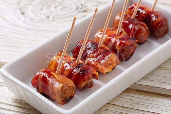 pinchos Bacon wrapped dates pintxos tapas Stock photo © lunamarina