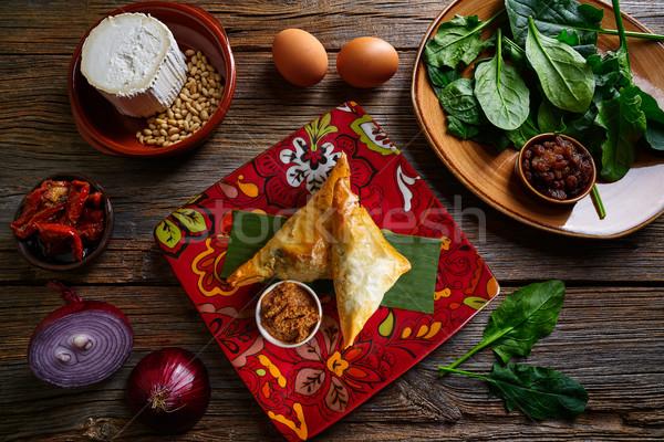 Spinaci formaggio ricetta alimentare ristorante Foto d'archivio © lunamarina