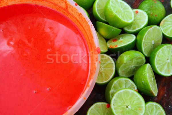 lemons after preparinng achiote tikinchick Mayan  Stock photo © lunamarina
