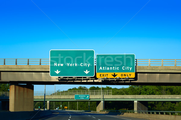 New Jersey détour New York ville interstate ciel Photo stock © lunamarina
