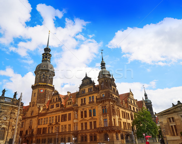 Dresden Residenzschloss and Hofkirche buildings Stock photo © lunamarina