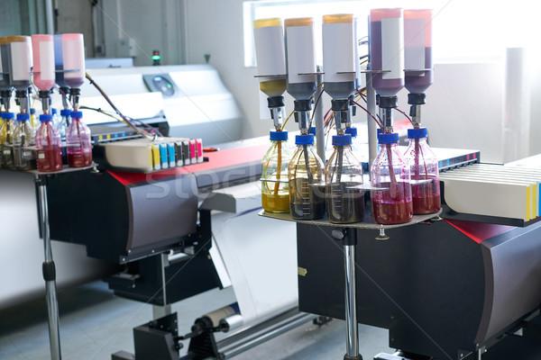 Nyomtatás ipar átutalás papír nyomtató textil Stock fotó © lunamarina