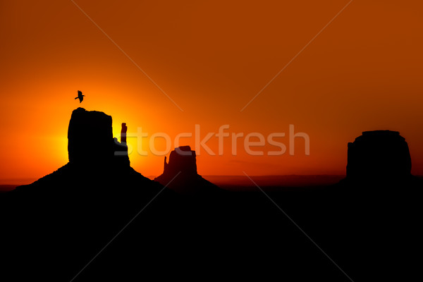 Zdjęcia stock: Świt · dolinie · rękawice · zachód · linii · Utah