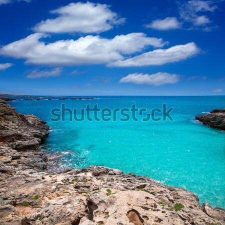 Menorca Platja es Calo Blanc in Sant Lluis at Balearic islands Stock photo © lunamarina