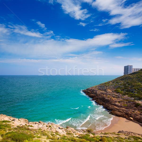 Cullera Cala beach near Faro in blue Mediterranean Stock photo © lunamarina
