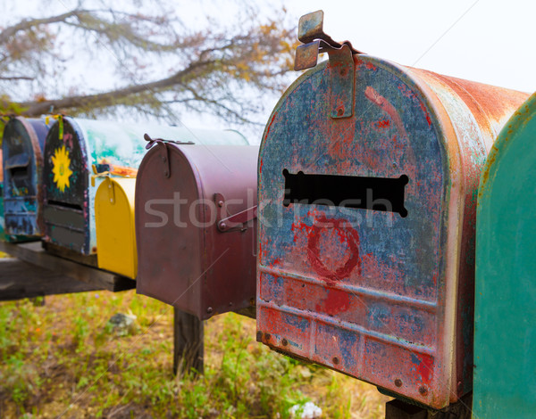 California grunge mailboxes along Pacific Highway Route 1 Stock photo © lunamarina
