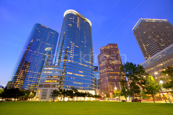 Houston Downtown skyline sunset at Texas US Stock photo © lunamarina