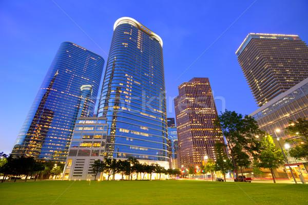 Houston centrum panoramę wygaśnięcia Texas nowoczesne Zdjęcia stock © lunamarina