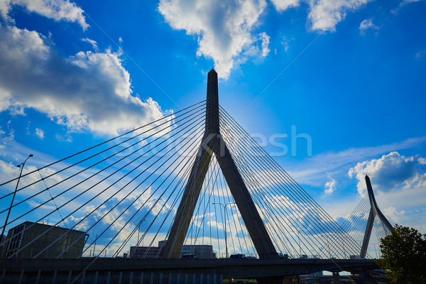 Boston Zakim bridge in Bunker Hill Massachusetts Stock photo © lunamarina