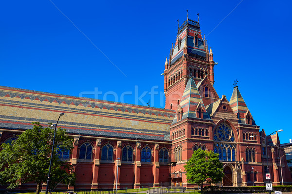 Universiteit historisch gebouw cambridge Massachusetts USA Stockfoto © lunamarina