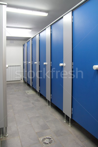 bathroom corridor doors blue pattern indoor Stock photo © lunamarina