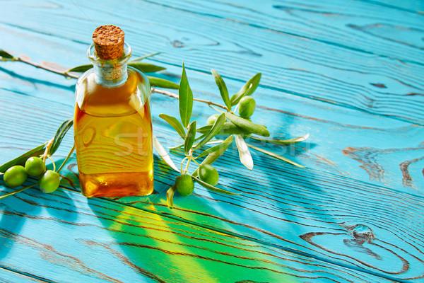 Olívaolaj mediterrán olajbogyók gyümölcsök ág fa Stock fotó © lunamarina