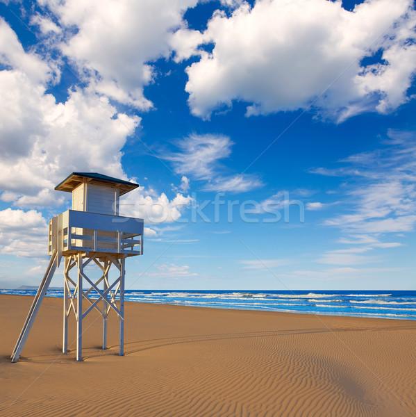 пляж Валенсия Испания Средиземное море небе природы Сток-фото © lunamarina