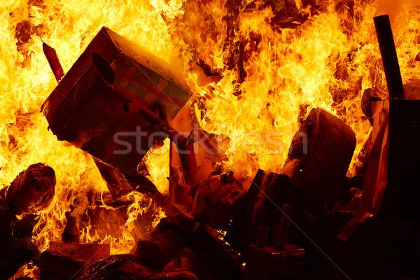 Fallas popular fest burning cartoon figures Stock photo © lunamarina