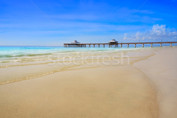 Florida Fort Myers Pier beach US Stock photo © lunamarina