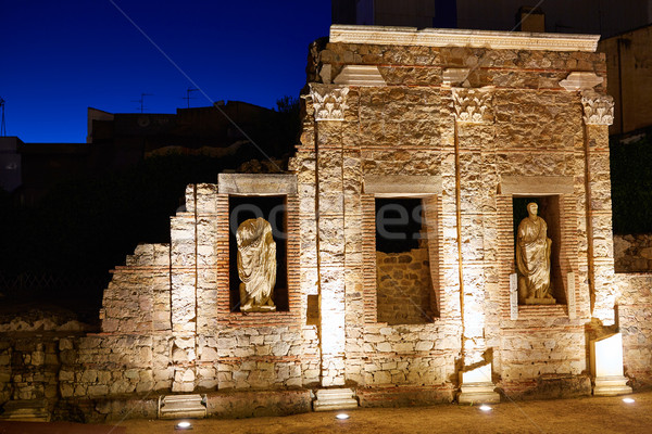 римской руин Испания здании город Сток-фото © lunamarina