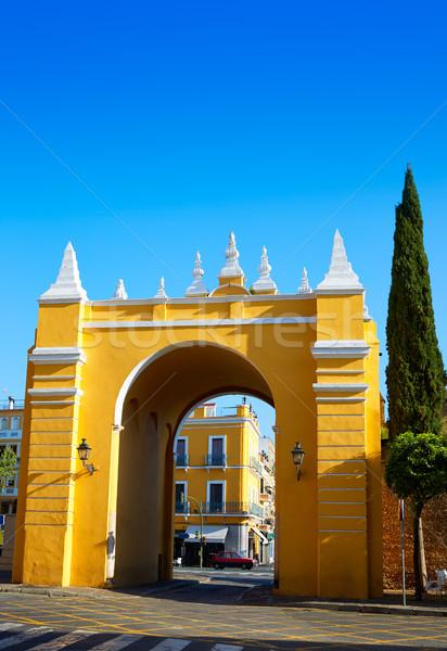 ラ アーチ ドア スペイン 市 壁 ストックフォト © lunamarina