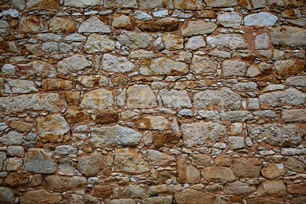 Pierre maçonnerie mur détail Espagne ville Photo stock © lunamarina