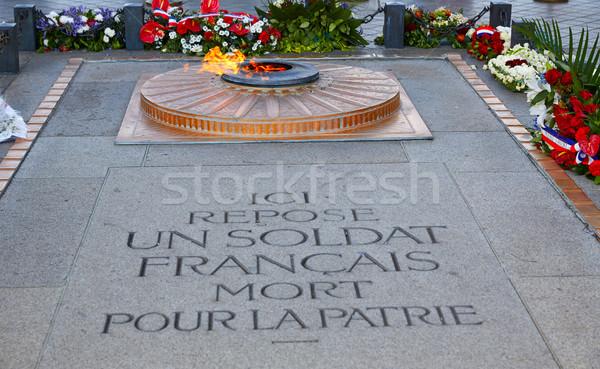 Inconnu soldat arc Paris flamme Arc de Triomphe Photo stock © lunamarina